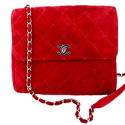 Chanel Classic Square Flap Velours Leather
