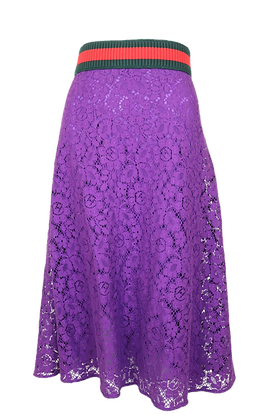 Gucci Lace Skirt Purple