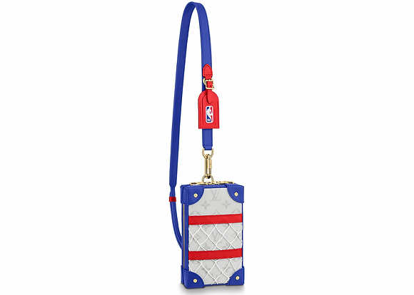 Louis Vuitton x NBA Soft Trunk Phone Box Antartica in Coated Canvas with Gold-to