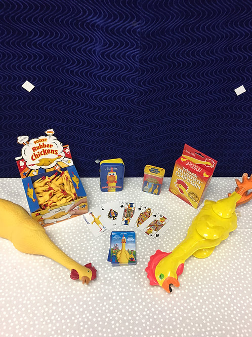 Rubber Chicken Gift Pack