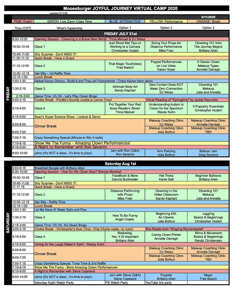 Joyful Journey - NEW FIXED Final Schedul