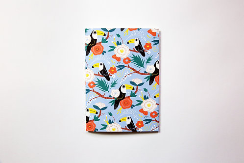 Handmade notebook - Toucans