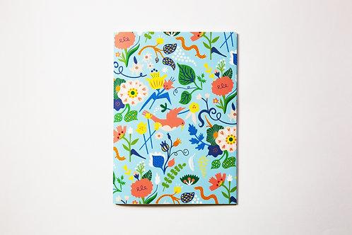 Handmade notebook - Blue birds