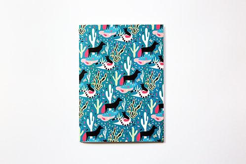 Handmade notebook - Coyotes