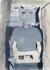 cat printing cat