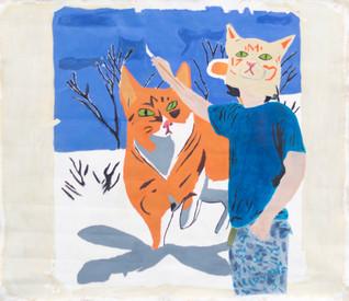 cat painting cat