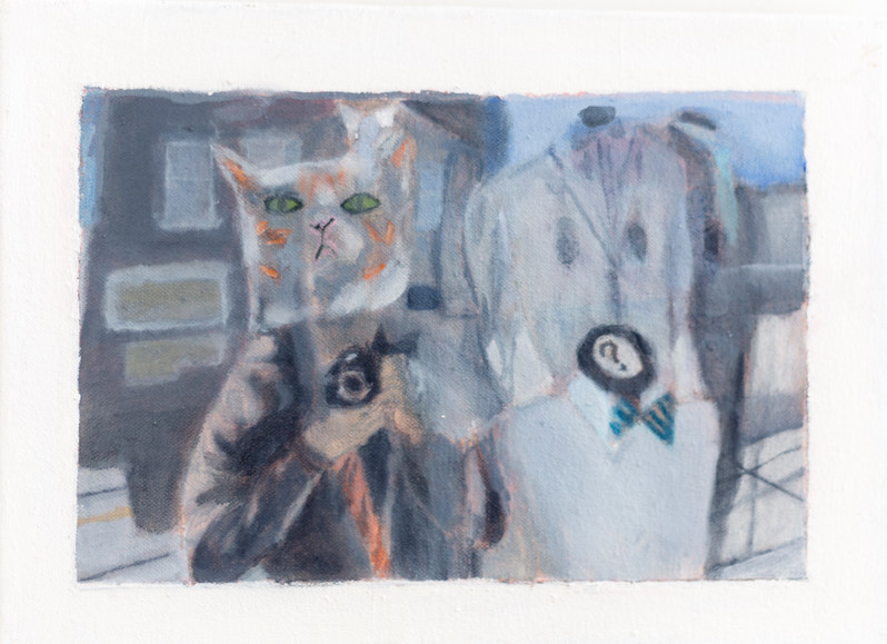 cat and suits