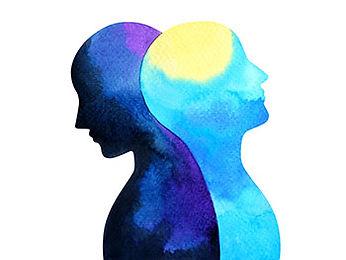 Water color mental health awareness