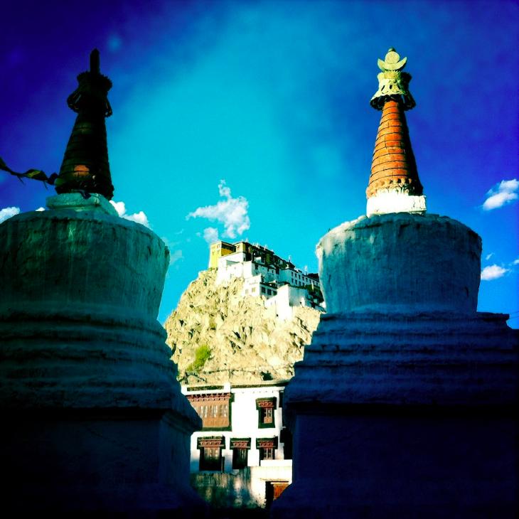 Stupas & Tiksey Monastery