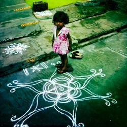 Kolam Little Girl