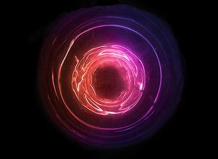 Magical sound wave symbol. Abstract oran