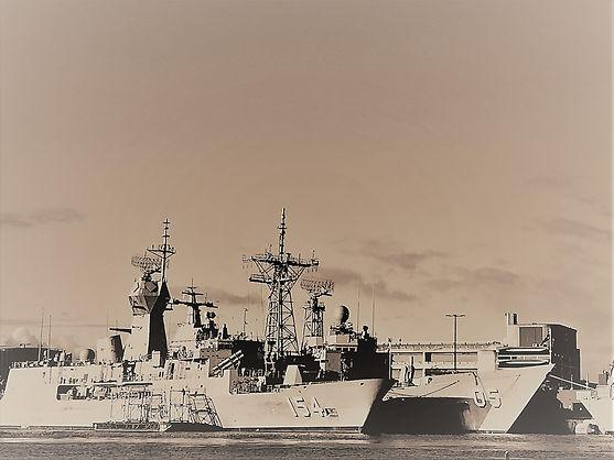 Australian warships in Sydney.
