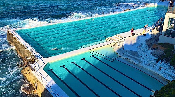A pool in Bondi Beach. In Sydney is the Iceberg pool. 1 Notts Avenue, Bondi