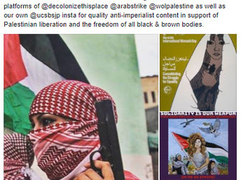 Students for Justice in Palestine's Latest Public Support of Terrorism