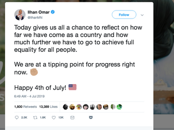Ilhan Omar confessed to embellishing a story she told to 400 high school students