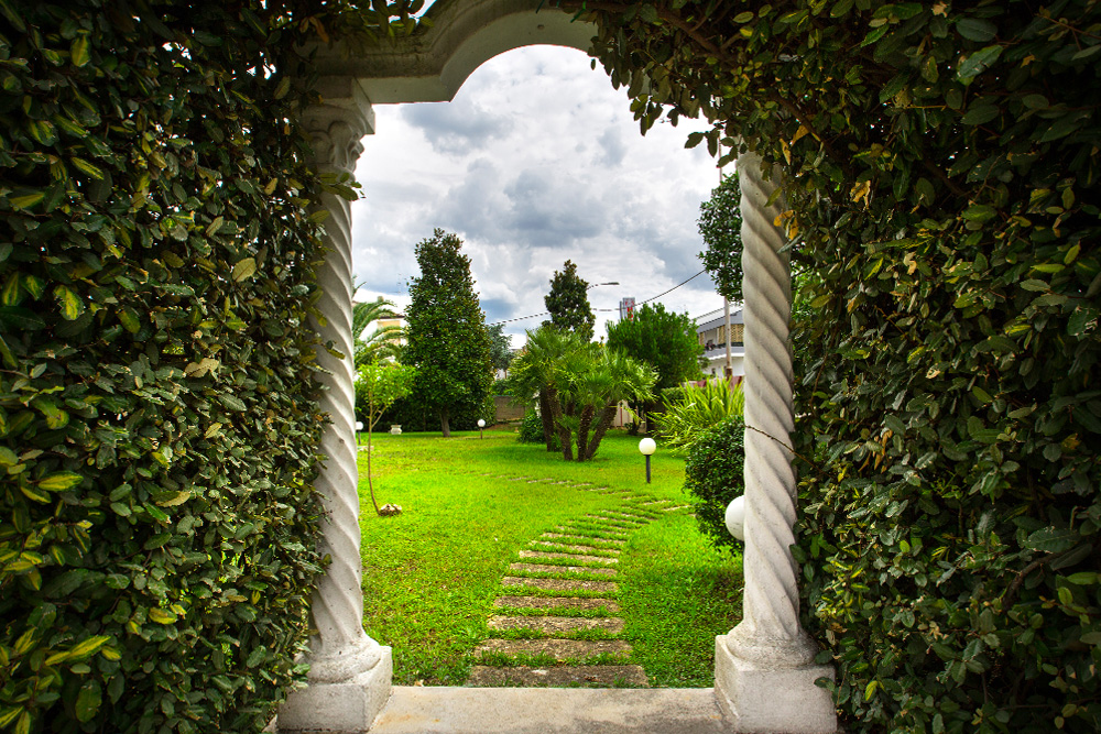 vista giardino hotel sole di puglia