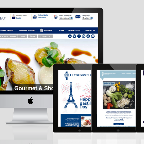 Le Cordon Bleu website and email communication