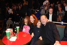 v.r. Ralph Siegel, Ruby, Laura Siegel, K