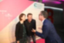 v.l.n.r.: Caroline Parot, CEO Europcar Mobility Group, Jens Riewa, ARD Tagesschausprecher, und Stefan Vorndran, Geschäftsführer Europcar Mobility Group Deutschland