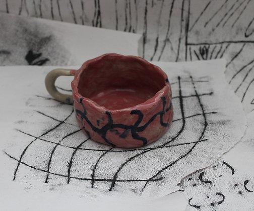 messy grid mug