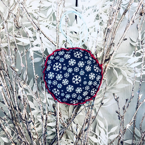 White Snowflake Bauble