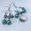 Thumbnail: Silver and Sea Green Drop Earrings