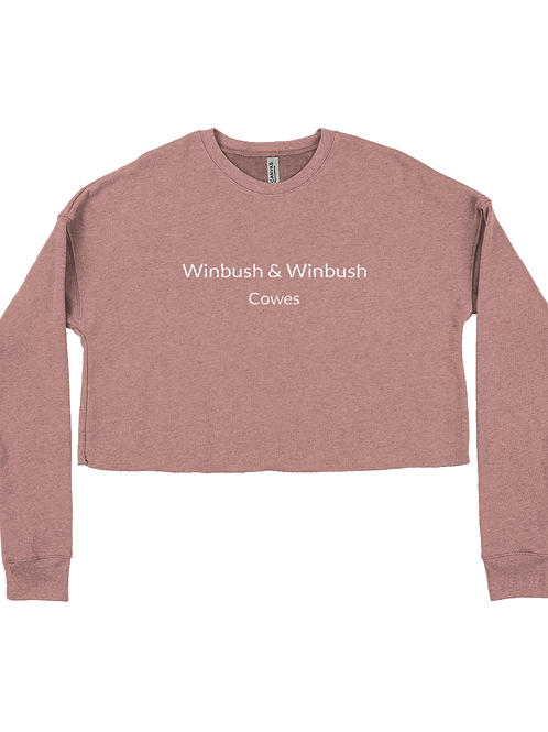 Cowes Bella Cropped Sweatshirt Mauve