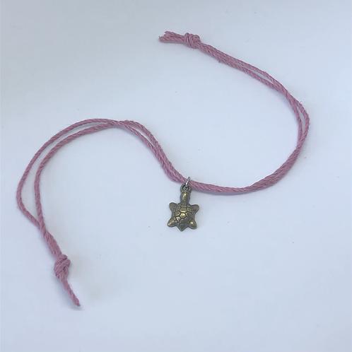 Pink Turtle Charm Bracelet