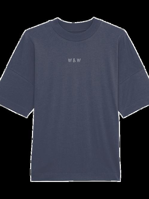 W & W Blaster Tshirt India Ink Grey