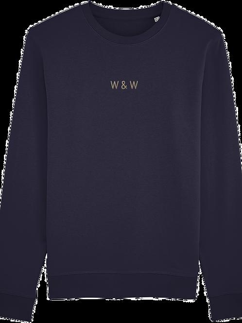 W & W Rise Sweatshirt French Navy