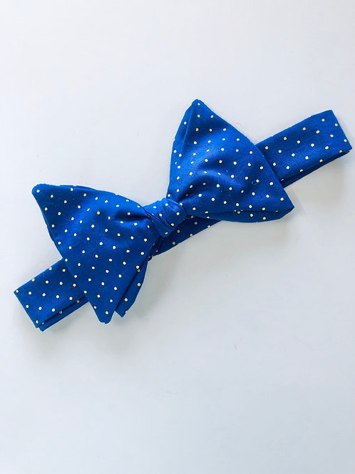Blue and Yellow Spot Bow Tie