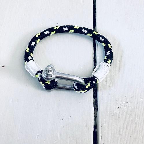 Solent Black Spliced Shackle Bracelet