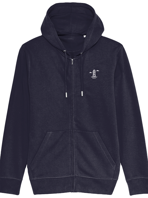 Needles Connector Zip Up Hoodie French Navy