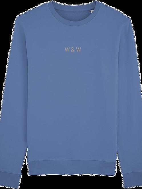 W & W Rise Sweatshirt Bright Blue
