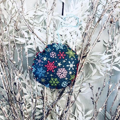 Multicoloured Snowflake Bauble