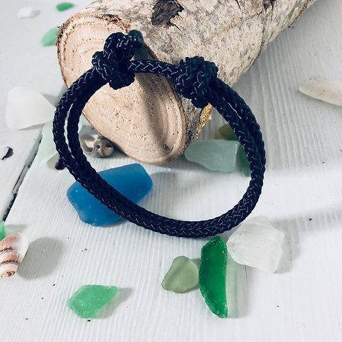Solent Classic Black Rope Bracelet