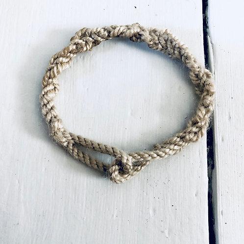Solent Hemp Rope Spliced Bracelet