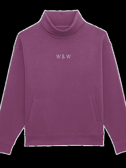 W & W Strider Roll Neck Sweatshirt Mauve