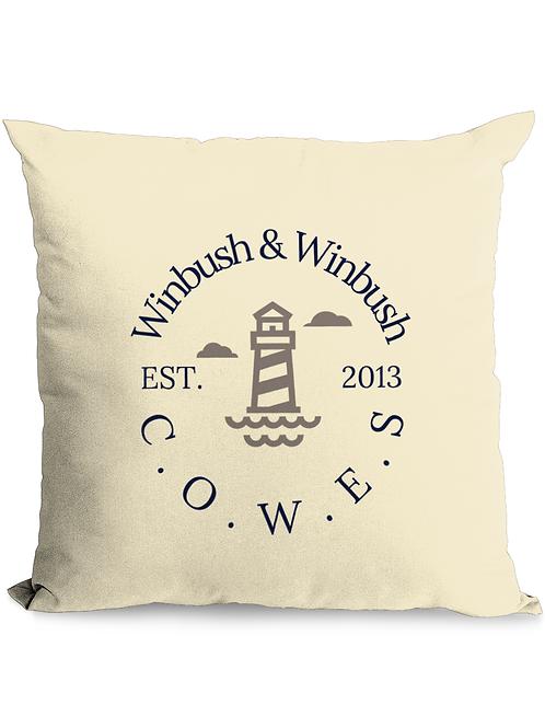 C.O.W.E.S Throw Cushion Natural