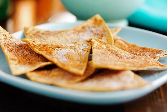 Dinner on a Dime: Cinnamon Sugar Tortilla Chips