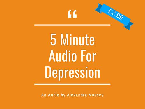 5 minute audio for depression