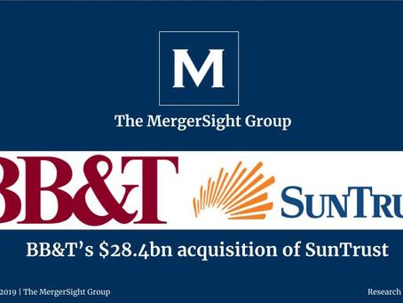 BB&T's $28.4bn acquisition of SunTrust