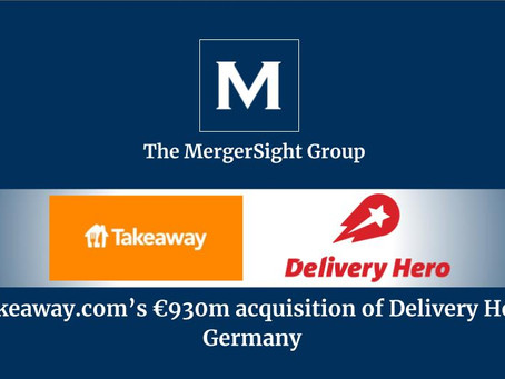 Takeaway.com's €930m acquisition of Delivery Hero Germany