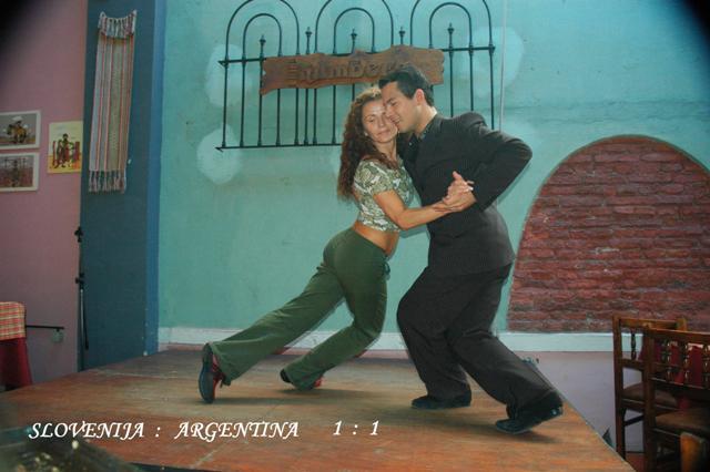 ARGENTINA/SLOVENIA-TANGO FAIGHT