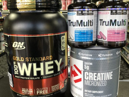 Phoenix, AZ – Tip from a Local Nutrition / Supplement Store: Top 3 supplements when starting a resis