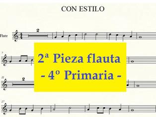 4º Primaria FLAUTA - 2ª pieza - Con estilo
