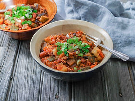 Homemade Turkey Vegetable Chili with Sca