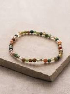 Indian Agate 4mm Bracelet
