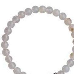 Black and White Agate 4mm Bracelet