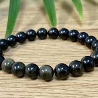 Rainbow Obsidian 4mm Bracelet